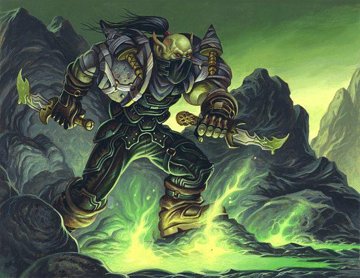 Male Orc Rogue Tcg Warcraft Art Rogues World Of Warcraft
