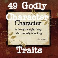 49 Godly Character Traits