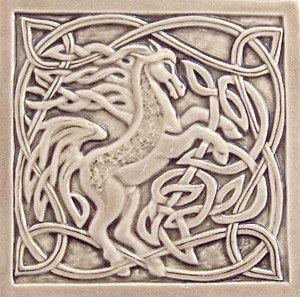 Decorative Relief Tiles Awesome Relief Carved Ceramic 6X6 Celtic Horse Tile 38 Thickthis Tile Design Ideas