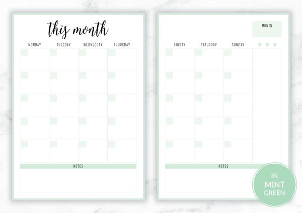 Free Printable Irma Monthly Planners By Eliza Ellis Available In