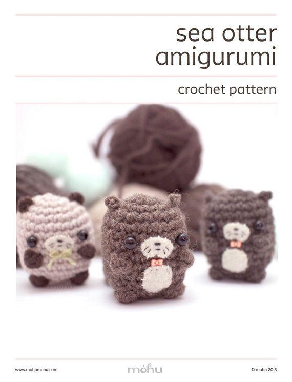 Amigurumi Otter Family Free Crochet Pattern   Kostenlos amigurumi ...   745x570