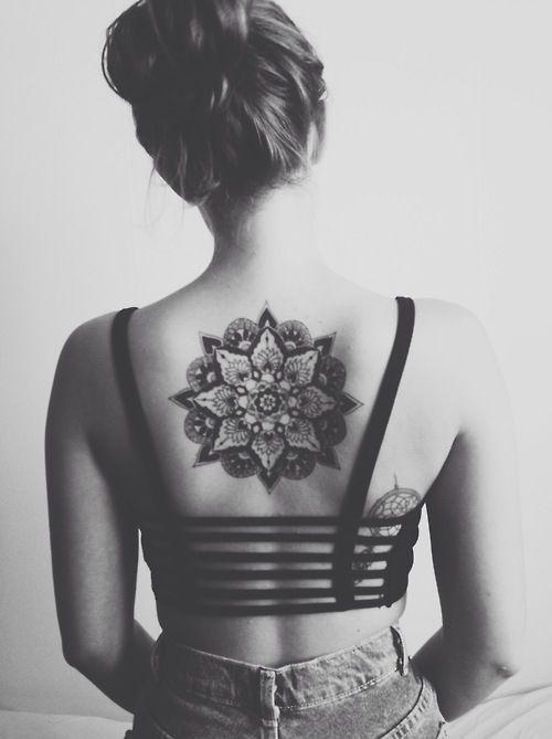 Mandala Flower Tattoo Back