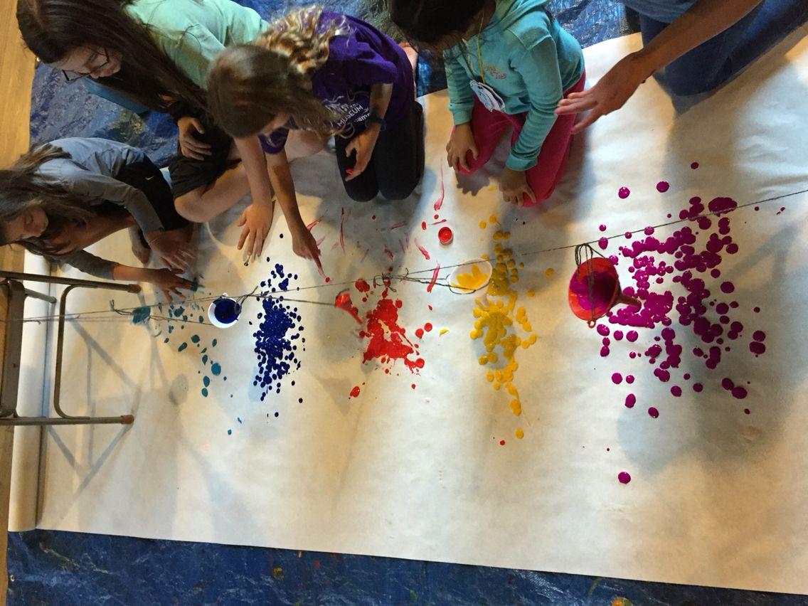 swing funnel painting movement art pinterest swings