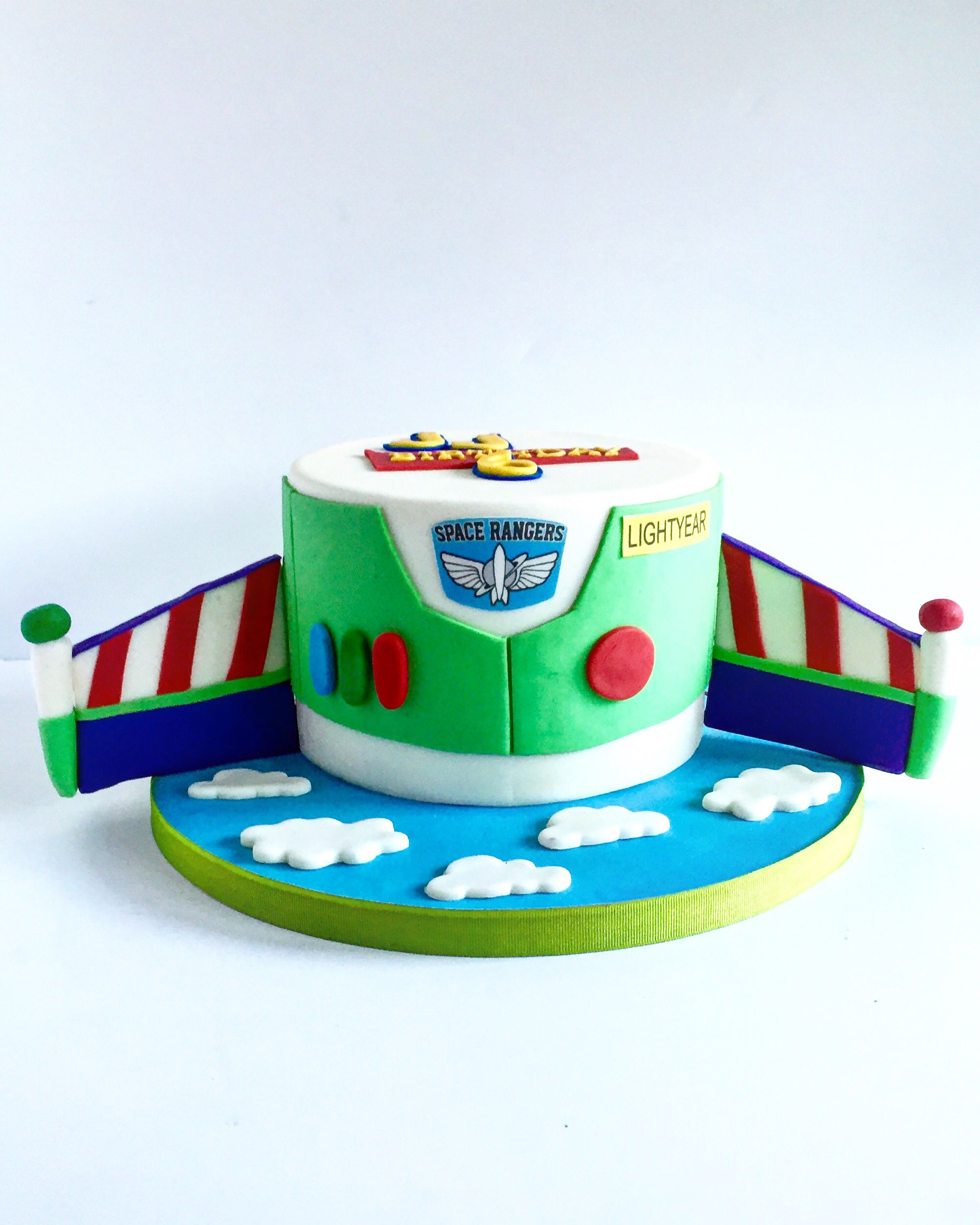 Simple Buzz Lightyear Cake With Images Toy Story Birthday Cake