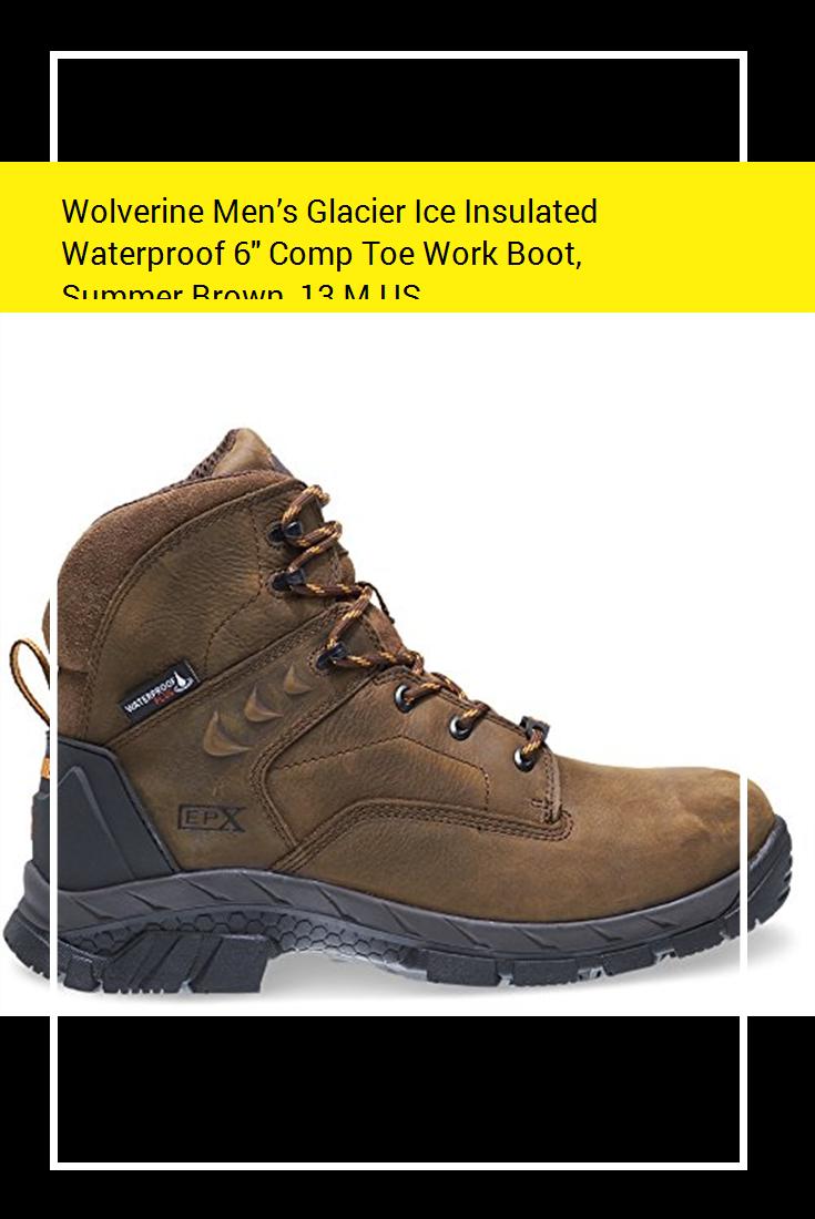 7fd1605a5c0 Wolverine Men's Glacier Ice Insulated Waterproof 6″ Comp Toe Work ...
