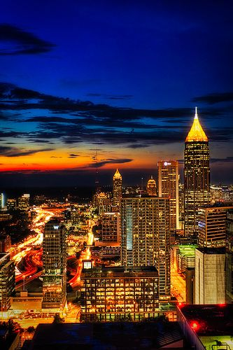 sunset over atlanta atlanta georgia pinterest urlaub oktober da sein und ferien. Black Bedroom Furniture Sets. Home Design Ideas