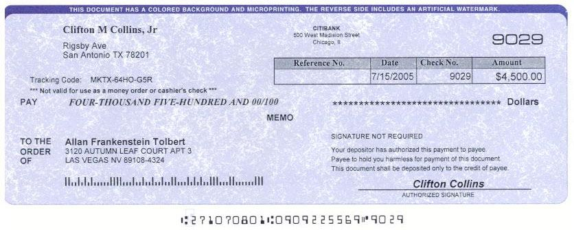 Counterfeit Check Sample | fake check awareness most checks can be ...