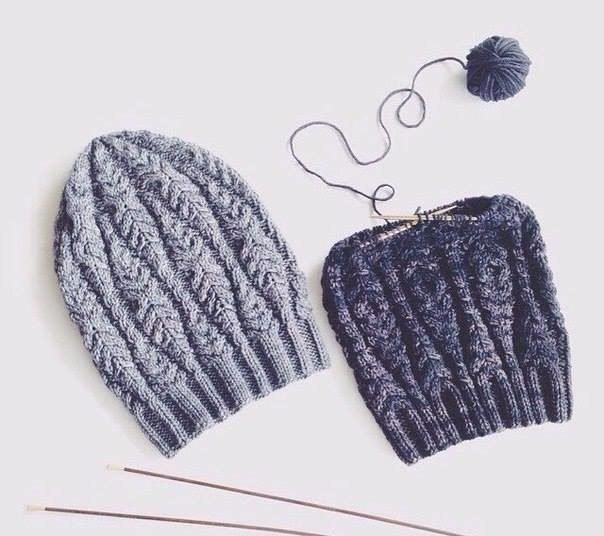 Вязание со схемами | Вязаные шапки, Вязание, Вязаные шапочки