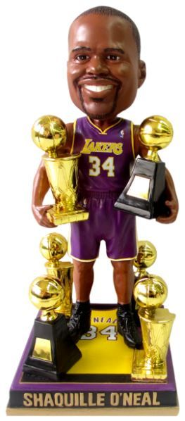 1c1417aa4f8 Shaquille O Neal (Los Angeles Lakers) 3X Champ 3X Finals MVP Trophy NBA  Legends Bobble Head Exclusive   500 Forever
