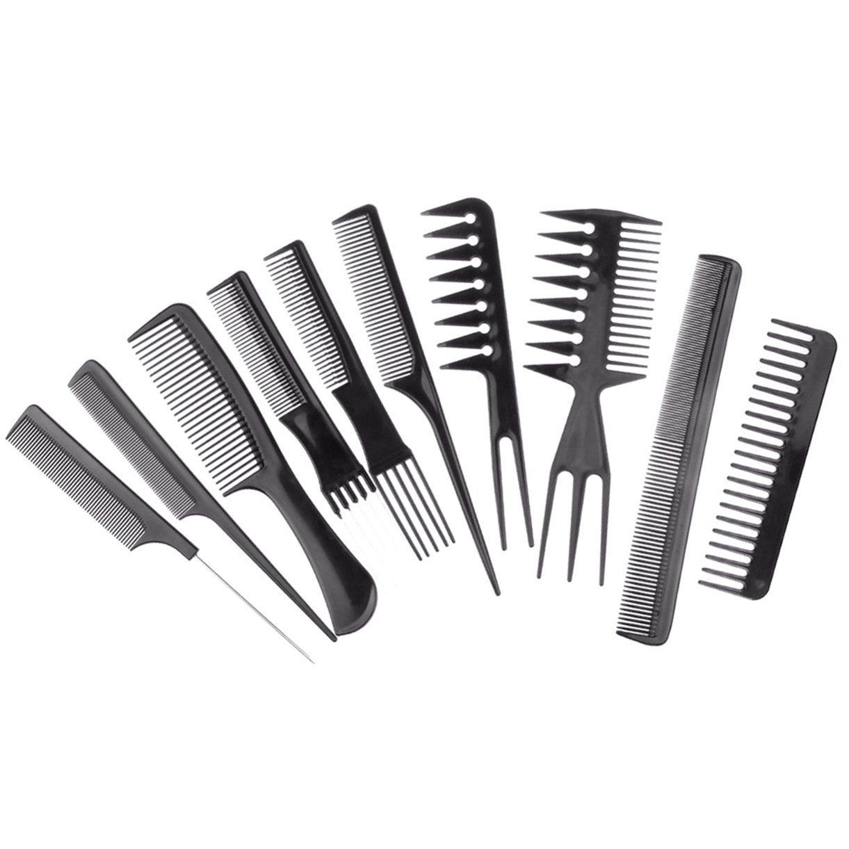 1 Set 10pcs Set Combs Hair Brush Professional Combs Salon Barber Brushes Anti Static Hairbrush Care Styling Professional Hairstyles Styling Tools Hair Tools