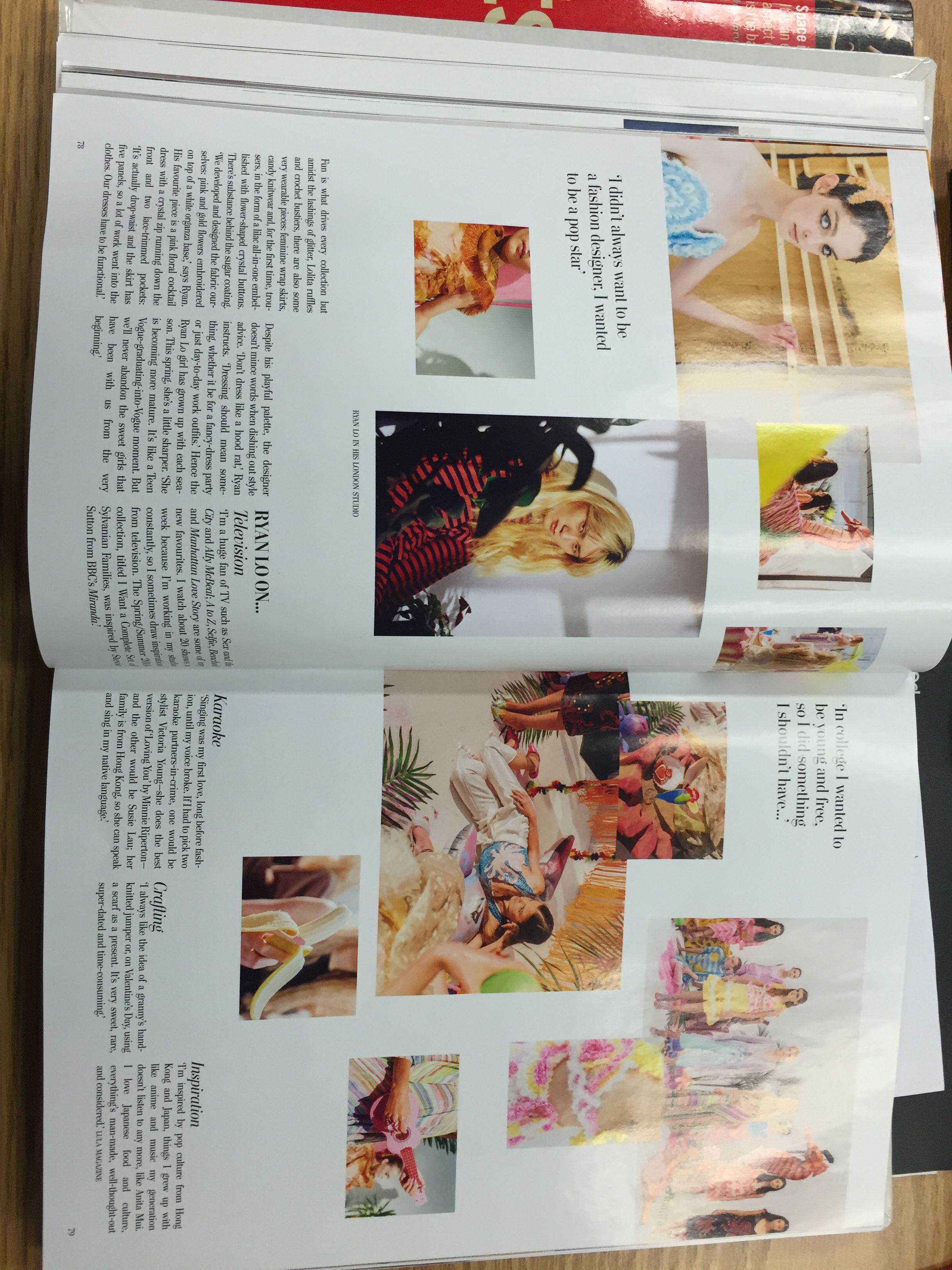 """This spread comes from the magazine Lula- issue 20: """"Arvida"""""""