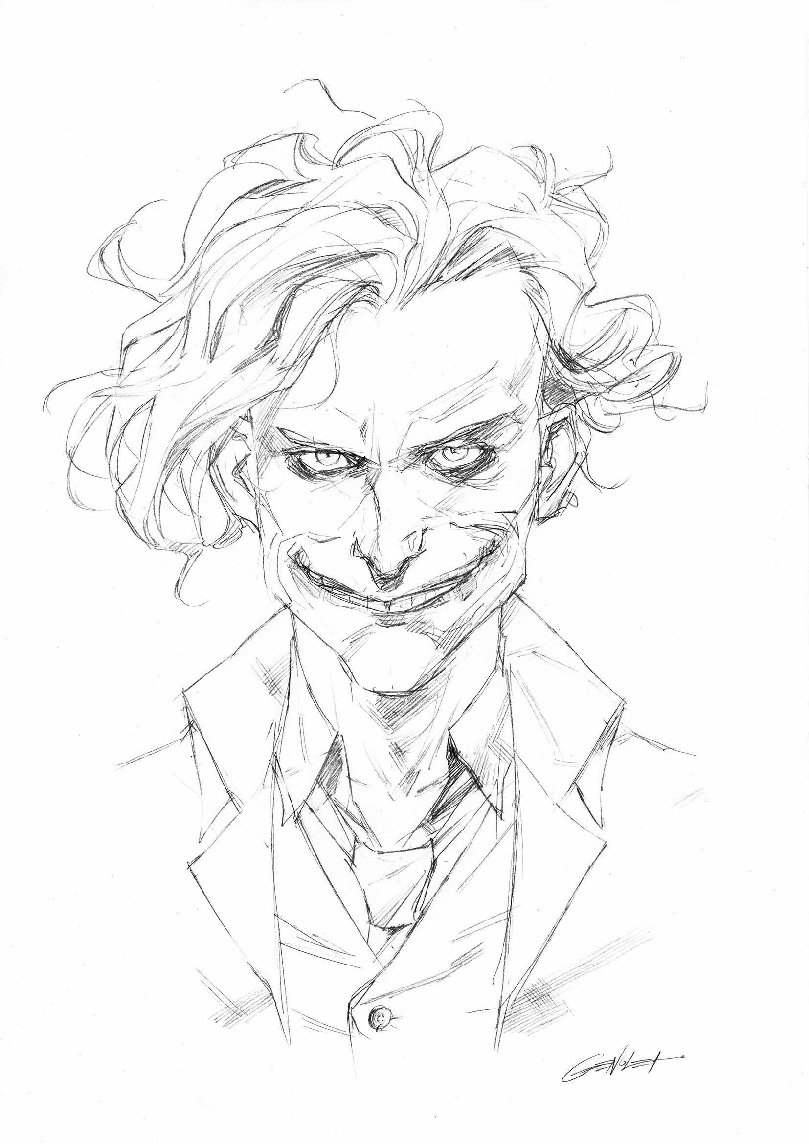 The Joker Sketch Lapiz Dibujos Comprar Arte Original