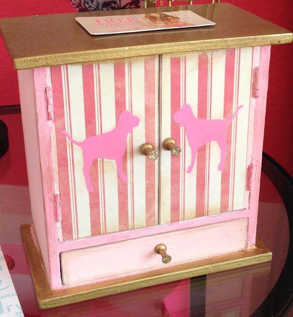 Victoriau0027s Secret Inspired Jewerly Cabinet // Craft Room Secrets ~ Victoria  Secret $10 Legs!