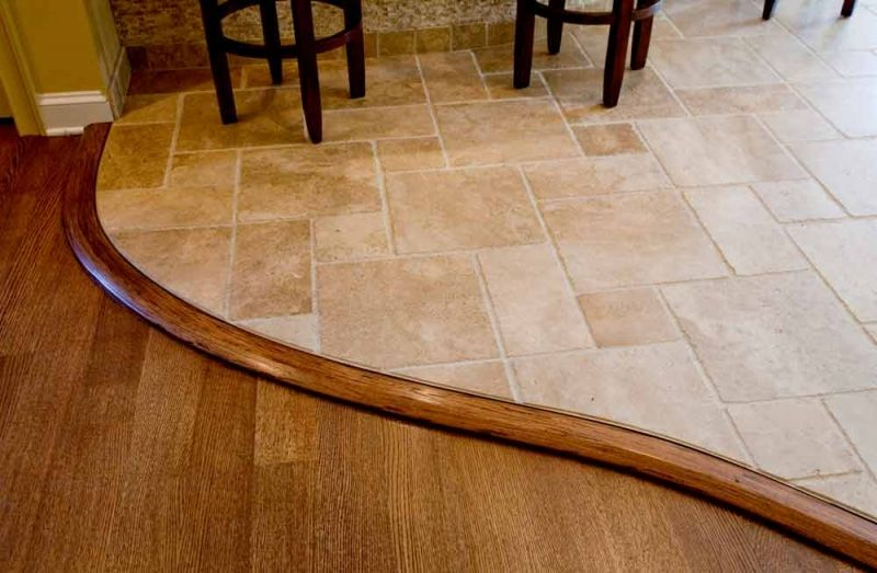 Handmade White Oak Curved Floor Transition Details For Your