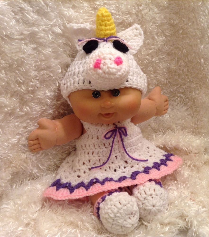 Clothes For 14 Inch Cabbage Patch Doll.Unicorn Dress Set. | My ...
