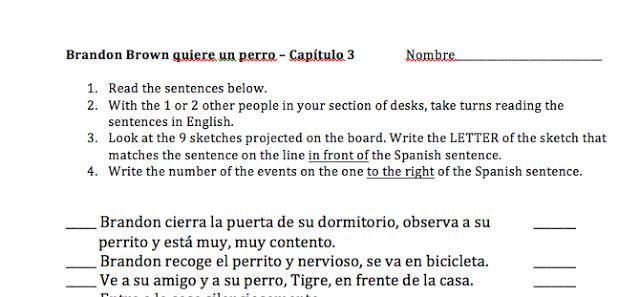 realidades 1 ch 2b reading worksheet
