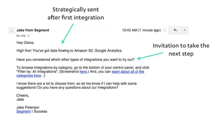 3 Perfectly Timed Emails For Effective User Onboarding Email Design Inspiration Segmentation Positive Reinforcement