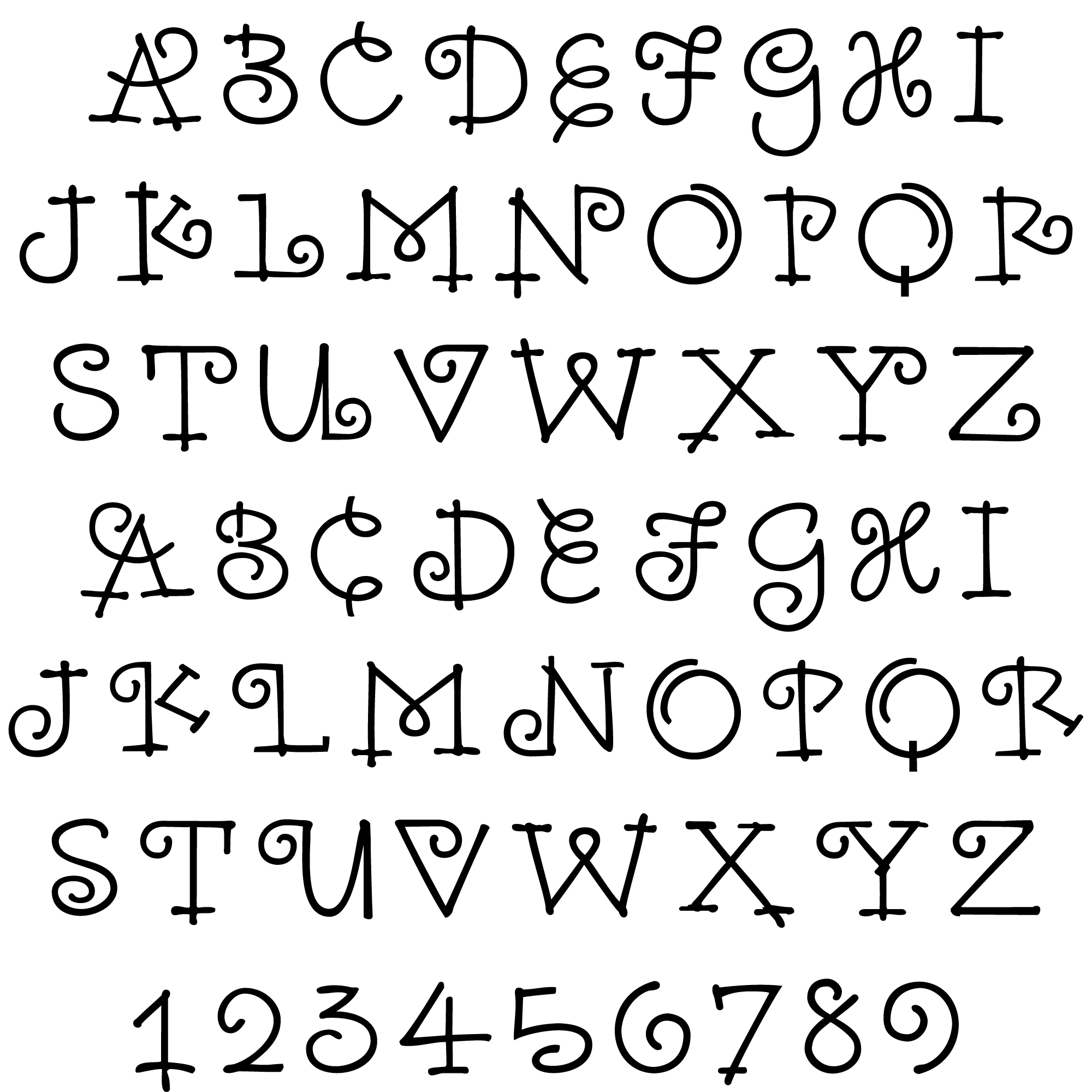 New Font From Outside The Line Raes Monogram Family Includes 2 Alphabet Fonts And 50 Illustrations