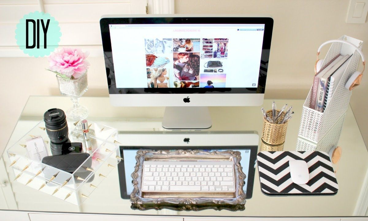 Cute Home Office Ideas: DIY Desk Decor ™�Cute + Affordable♡