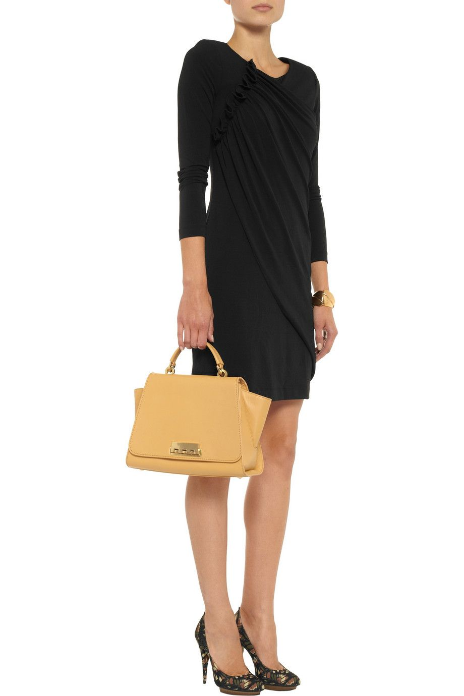 Love Moschino Draped stretch-crepe dress - 54% Off Now at THE OUTNET