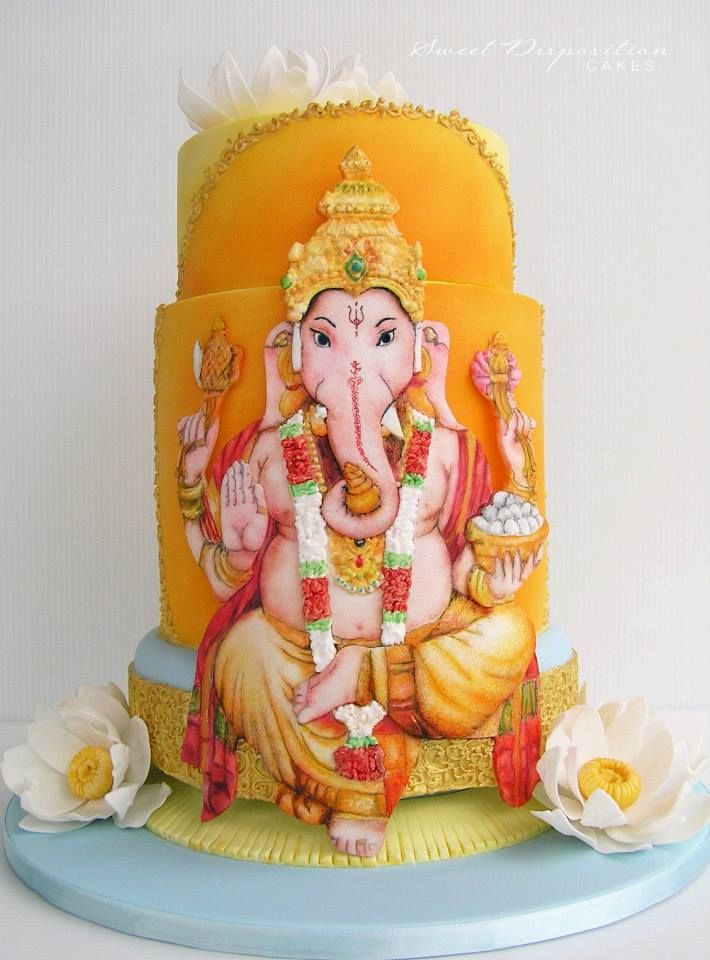 Ganesha Cake Images : Painted and airbrushed Ganesh Cake - by Sweet Disposition ...