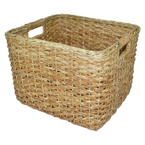 Seagrass Rectangular Wicker Basket Large Threshold Wicker Large Baskets Basket Decoration