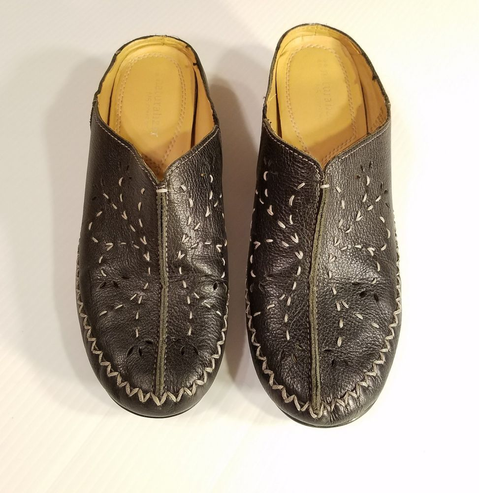 8f2d92dd2fb3 Naturalizer N5 Comfort Gennie Size 8.5 Black Mule Wedge Slide Contrast  Stitching  Naturalizer  Mules  WeartoWork