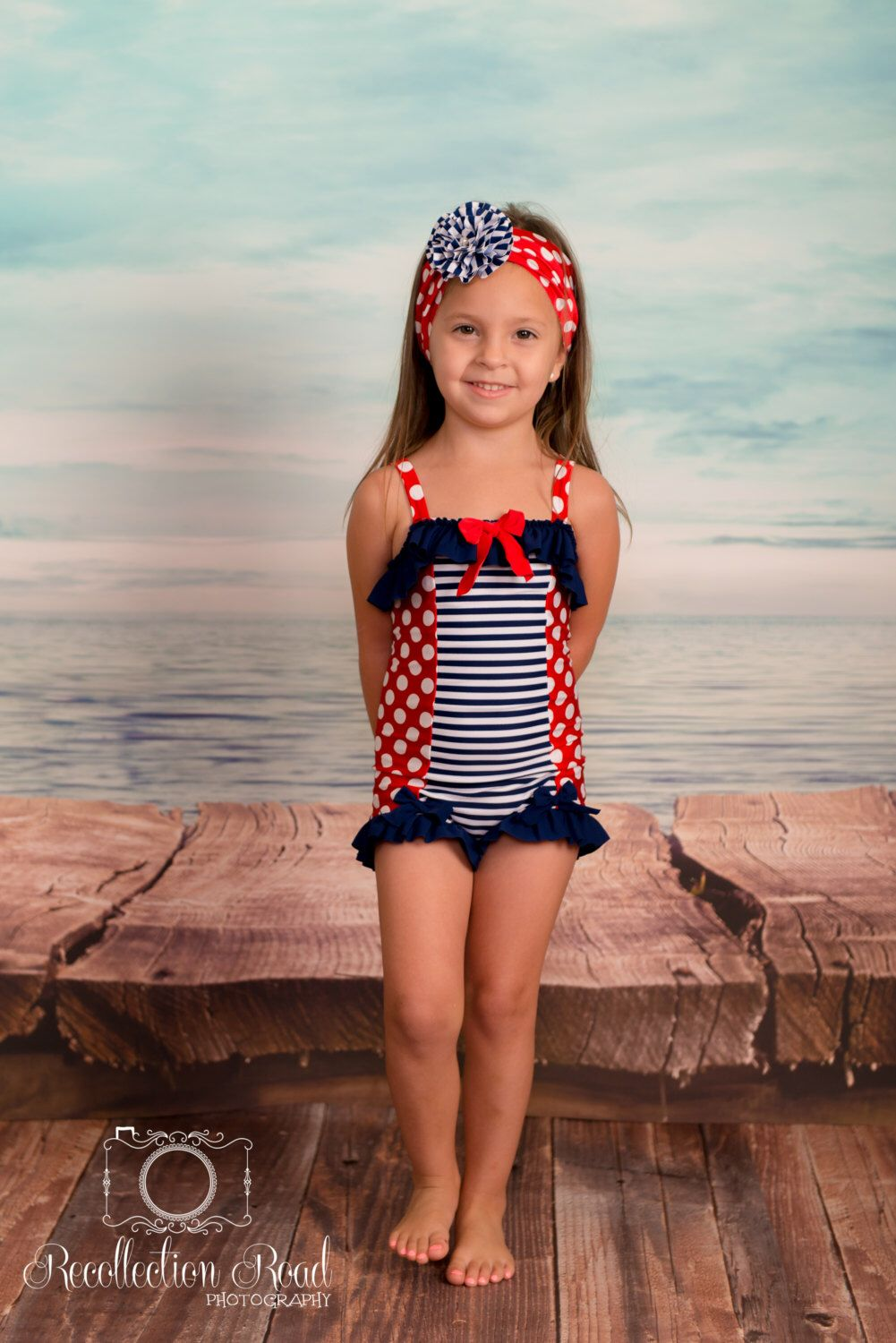 5be0c26fe77ed Ruffled Boyshort Swimsuit in Independence: SS16 Collection (Size 2 - 8)