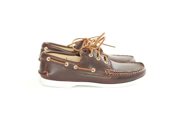 3-Eye Boat Shoe- Brown CXL | New England Outerwear, $270 | Fashion ...