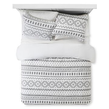 Fair Isle Flannel Duvet Amp Sham Set Threshold Flannel