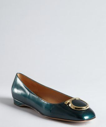 Salvatore Ferragamo Patent Leather Square-Toe Flats buy cheap pictures with credit card cheap price EVt2bV7