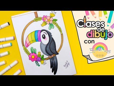 Cómo dibujar un HERMOSO TUCÁN CLASES DE DIBUJO CON