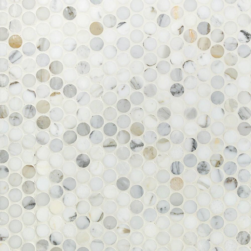 Ivy Hill Tile Calacatta Penny Round 11 25 In X 12 In 10mm