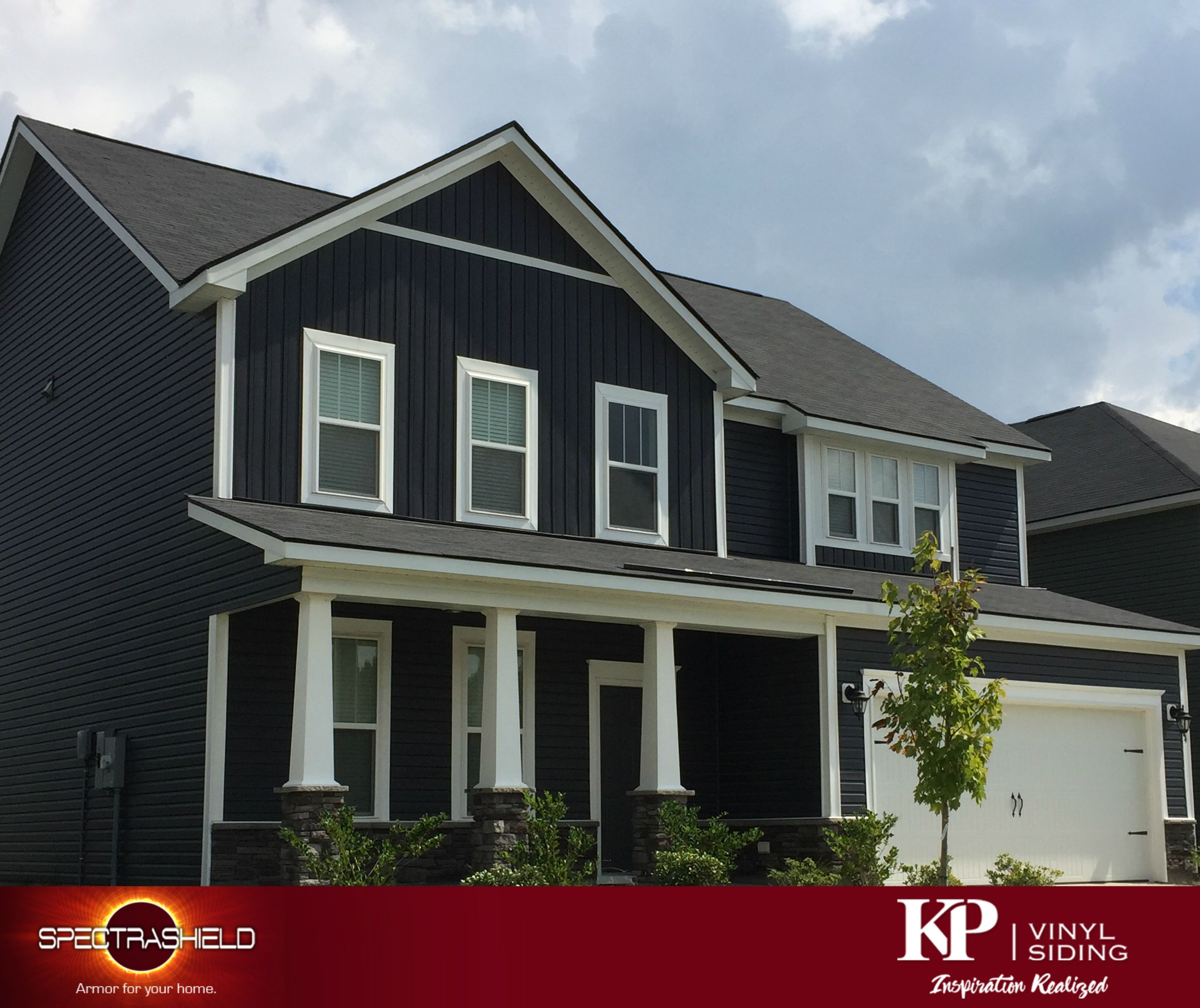 Manor A Bold Dark Color Vinyl Siding From Kp Vinyl