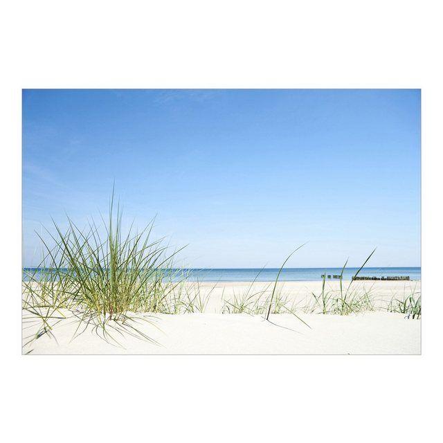 Fototapete Strand an der Nordsee Strandtapete Vliestapete Breit Meer Düne Urlaub