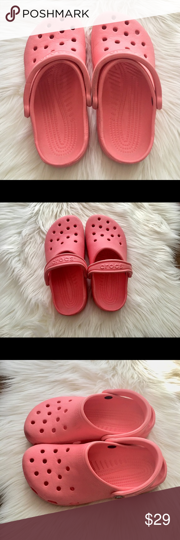 cba82c765 Women Crocs color- Pink peach salmon Women s Crocs Classic Water Friendly  Clogs.