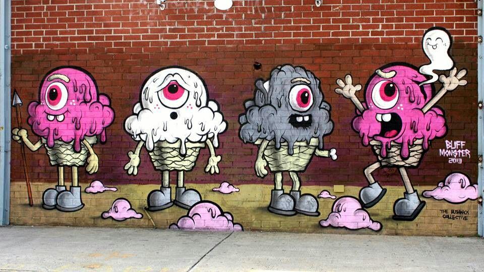 Buff Monster New Mural In New York City, USA