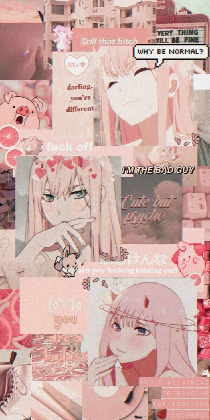 Photo of Darling in the franxz anime vintage edit zero two 002 pink shimukonatch – #002 #…
