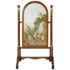 Exclusive French Biedermeier Fireplace Screen, 1820s