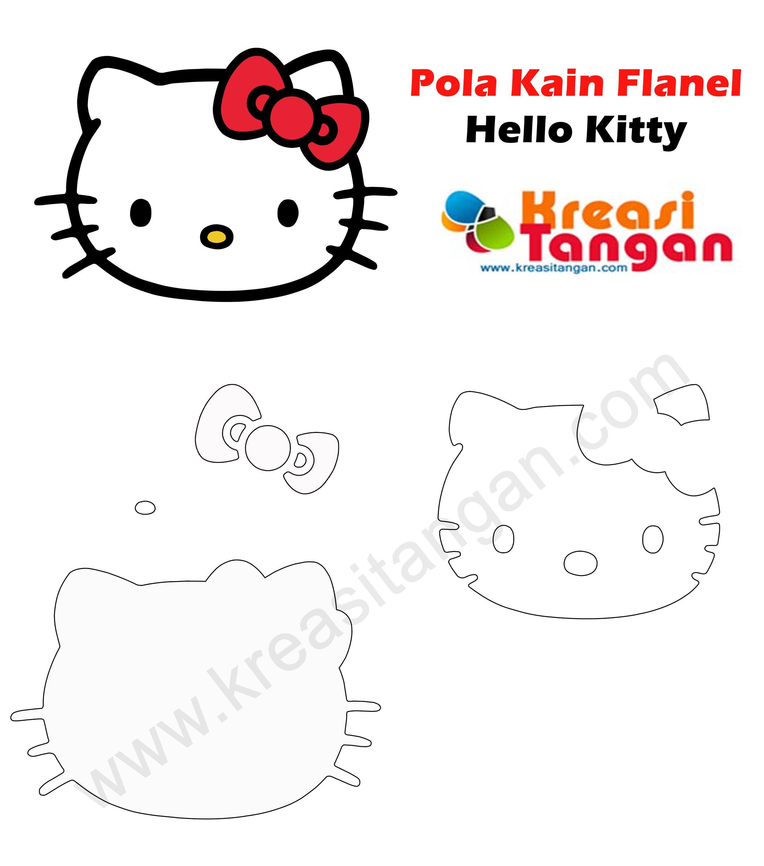 93 Gambar Pola Hello Kitty Flanel Terlihat Keren