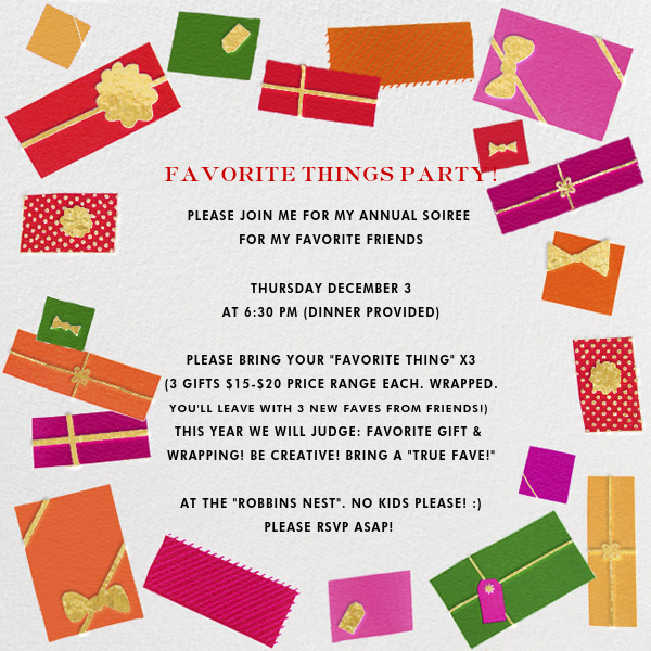 Awesome Post Christmas Party Ideas Part - 10: Favorite Things Invitation Paperless Post · Christmas IdeasParty ...