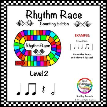 Music Centers Rhythm Race Counting Edition Level 2 Rhythm Game Rhythm Games Music Lesson Plans Music Education