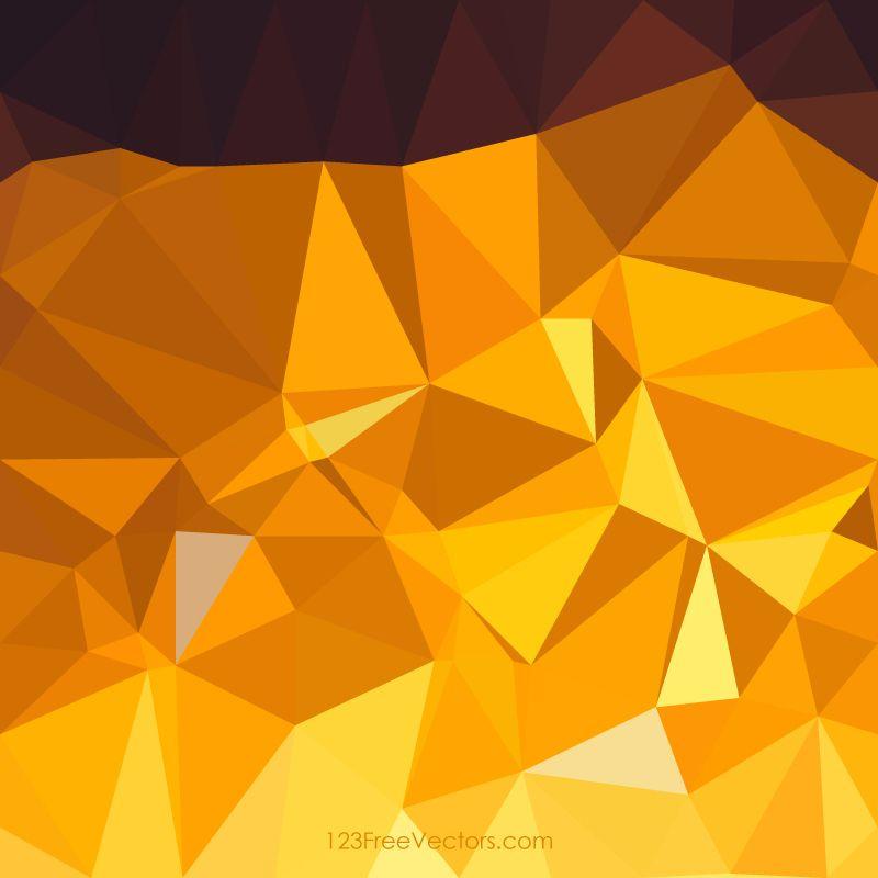 Dark Golden Brown Low Poly Background Design In 2019