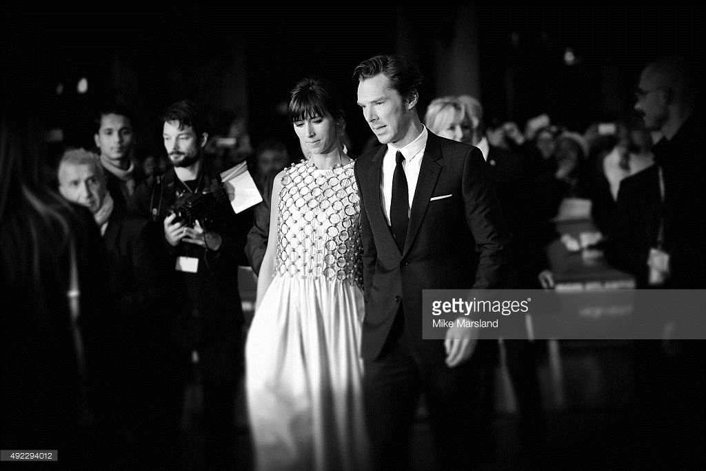 ニュース写真 : Benedict Cumberbatch and Sophie Hunter attend a...