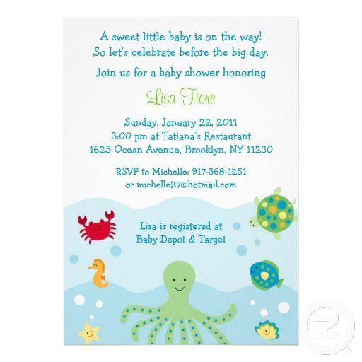 Calypso sea creature ocean baby shower invitations baby calypso sea creature ocean baby shower invitations filmwisefo