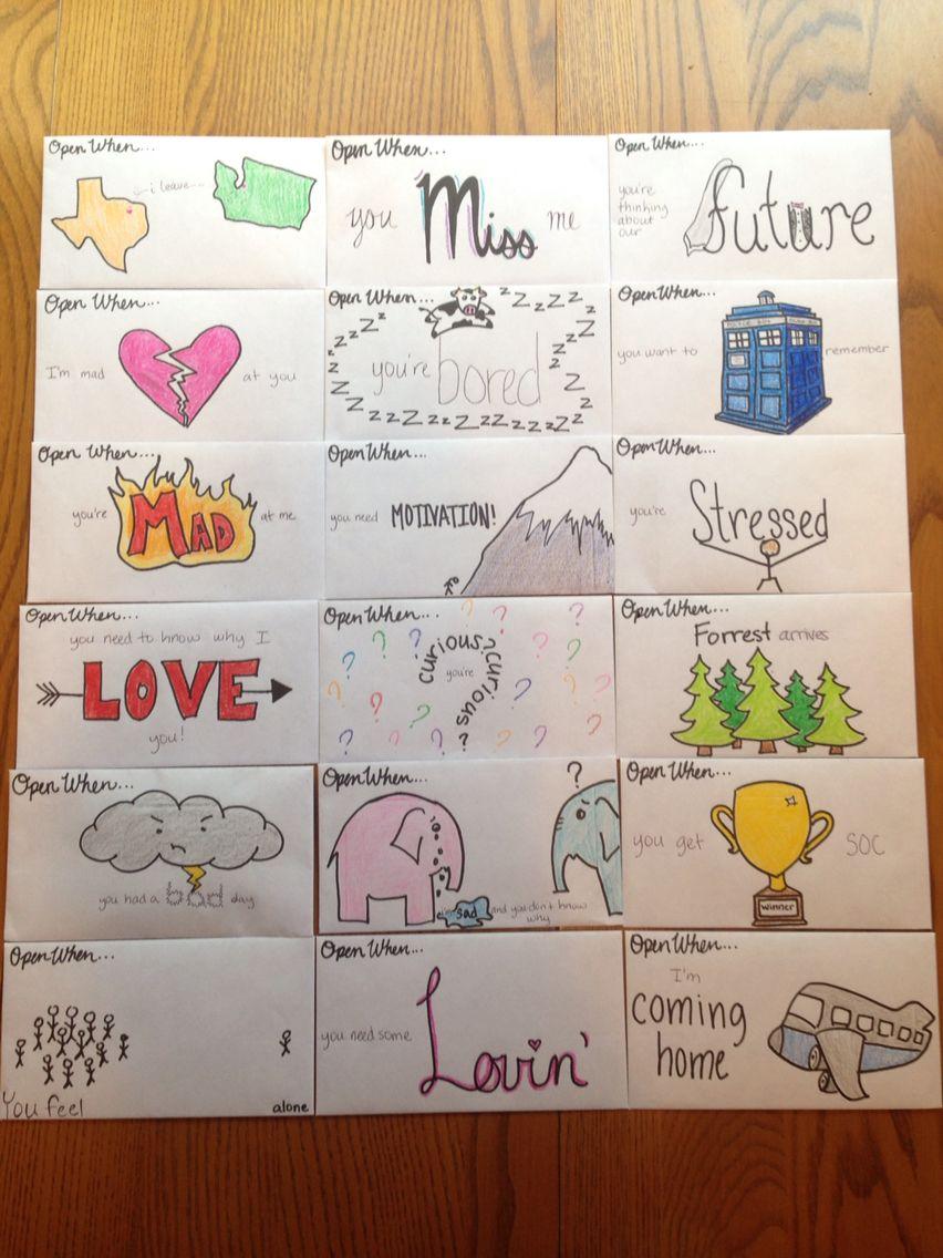 Open when letters to boyfriend diy und selbermachen for Geschenk auslandsjahr