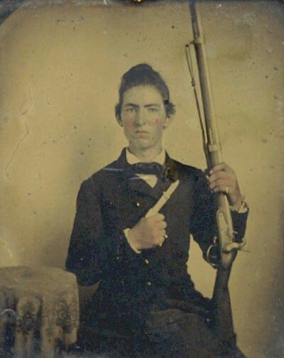 Photo: William Matthew Hasty 17th Tennessee Infantry Company A. He fought in the battle of Perryville, Kentucky and Stones River in Murfreesboro, Tennessee .