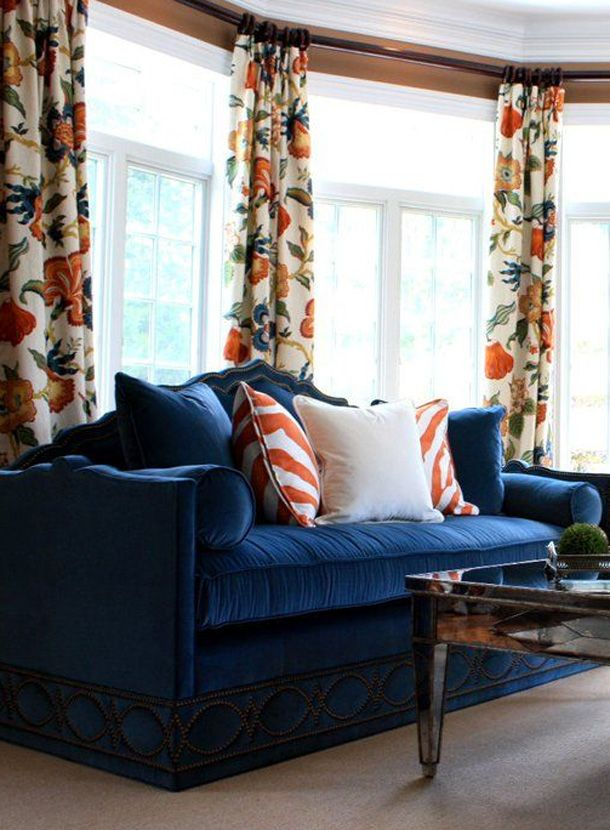 Indigo Inspiration The Scout Guide Blue And Orange Living Room Living Room Orange Burnt Orange Living Room