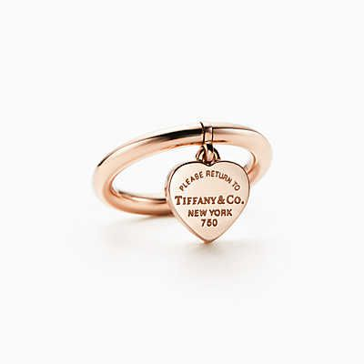 Return To Tiffany Heart Tag Ring In 18k Rose Gold Tiffany