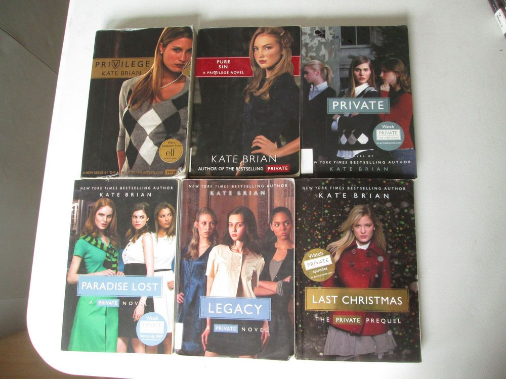 KATE BRIAN PRIVATE & PRIVILEGE SERIES LOT OF 6 YOUNG ADULT NOVELS YA  Paperbacks